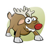 Funny christmas reindeer Royalty Free Stock Photos