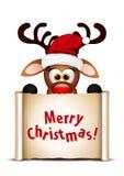 Funny Christmas Reindeer Stock Image