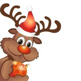 Funny christmas reindeer Royalty Free Stock Image