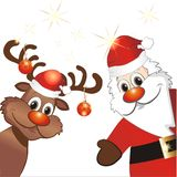 Funny christmas reindeer royalty free illustration