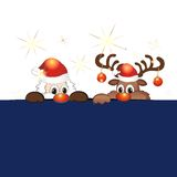 Funny christmas reindeer Royalty Free Stock Photography