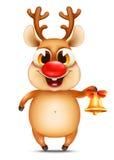 Funny christmas reindeer Stock Photos