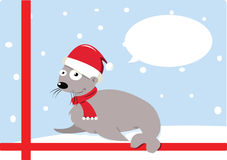 Funny Christmas Seal Stock Image
