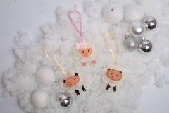 Funny Christmas sheep and balls Royalty Free Stock Photo