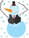 Funny Christmas Snowman Character Royalty Free Stock Images