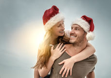 Funny christmas in the south Stock Photography