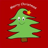 Funny Christmas tree Royalty Free Stock Photo