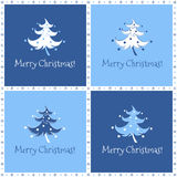 Funny christmas tree in blue Stock Images