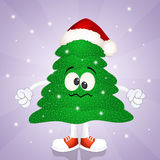 Funny Christmas tree Stock Images