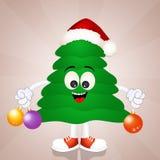 Funny Christmas tree Stock Image