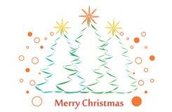 Funny Christmas trees Stock Photos