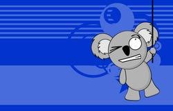 Funny chubby koala cartoon expression background Stock Photos