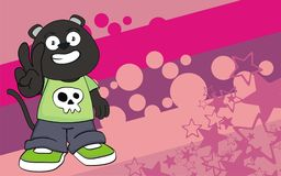 Funny chubby panther cartoon expression background Royalty Free Stock Photo