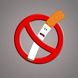 Funny cigarette for no smoking Royalty Free Stock Photo