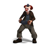 Funny circus clown with lot of emotions Royalty Free Stock Photo