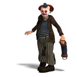 Funny circus clown with lot of emotions Stock Images