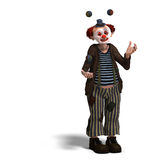 Funny circus clown with lot of emotions Royalty Free Stock Photos