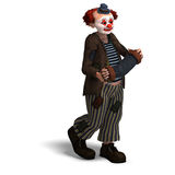 Funny circus clown with lot of emotions Royalty Free Stock Photography