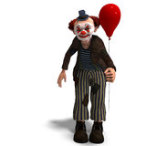 Funny circus clown with lot of emotions royalty free illustration