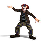 Funny circus clown with lot of emotions vector illustration