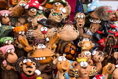 Funny clay figures Stock Photo