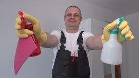Funny cleaner with spray cans
