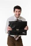 Funny clerk. Stock Image
