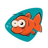 Funny clipart of a smiling fish. Funny clipart of a smiling cartoon fish stock illustration
