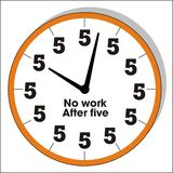 Funny clock Royalty Free Stock Photography
