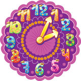 Funny clock for kids Royalty Free Stock Images