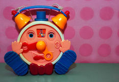 Funny clock toy Royalty Free Stock Image