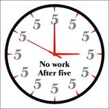 Funny clock vector royalty free stock images
