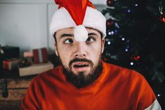 Portrait of attractive man before christmas Royalty Free Stock Image
