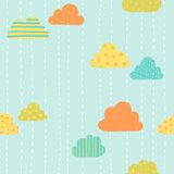 Funny clouds pattern Stock Image