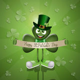 Funny clover for San Patrick's Day Royalty Free Stock Image