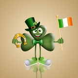 Funny cloverleaf for St. Patrick Day Royalty Free Stock Photography