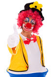 Funny clown. Gesturing OK (isolated on white Stock Image