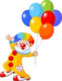 Funny Clown. The funny clown holding balloons. Vector illustration Stock Image