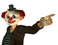 Funny clown. 3d render of a funny clown Royalty Free Stock Images