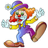 Funny Clown. Cheerful Clown; Vector Illustration Royalty Free Stock Images