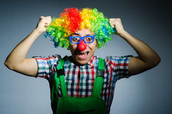 Funny clown Stock Photos