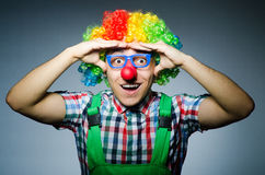 Funny clown against Royalty Free Stock Photos