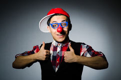 Funny clown against Royalty Free Stock Photo