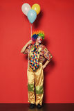 Funny clown with balloons Stock Images