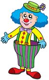 Funny clown in big pants Stock Image