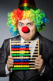 Funny clown businessman Stock Photography
