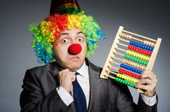 Funny clown businessman Royalty Free Stock Photo