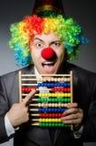 Funny clown businessman Stock Image