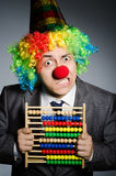 Funny clown businessman Royalty Free Stock Photo