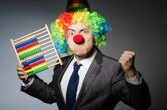 Funny clown businessman Royalty Free Stock Photos